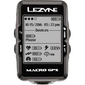 Lezyne Macro Cykelcomputer med hjertefrekvensmåler, black
